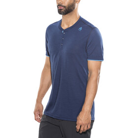 Aclima LightWool Henley Shirt Heren, insignia blue/blithe